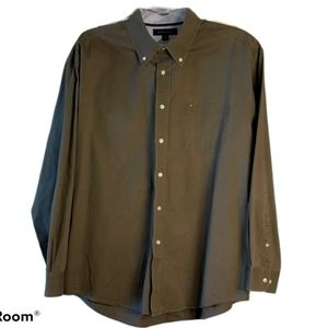 Tommy Hilfiger Olive Green Button Down Shirt XL
